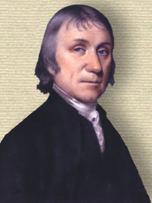 Joseph Priestley - head and shoulders - Pastel portrait by Ellen Sharples circa 1797