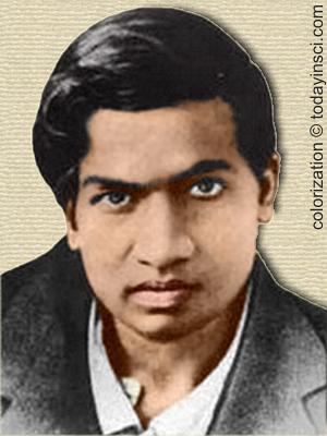 Srinivasa Ramanujan - colorization © todayinsci.com