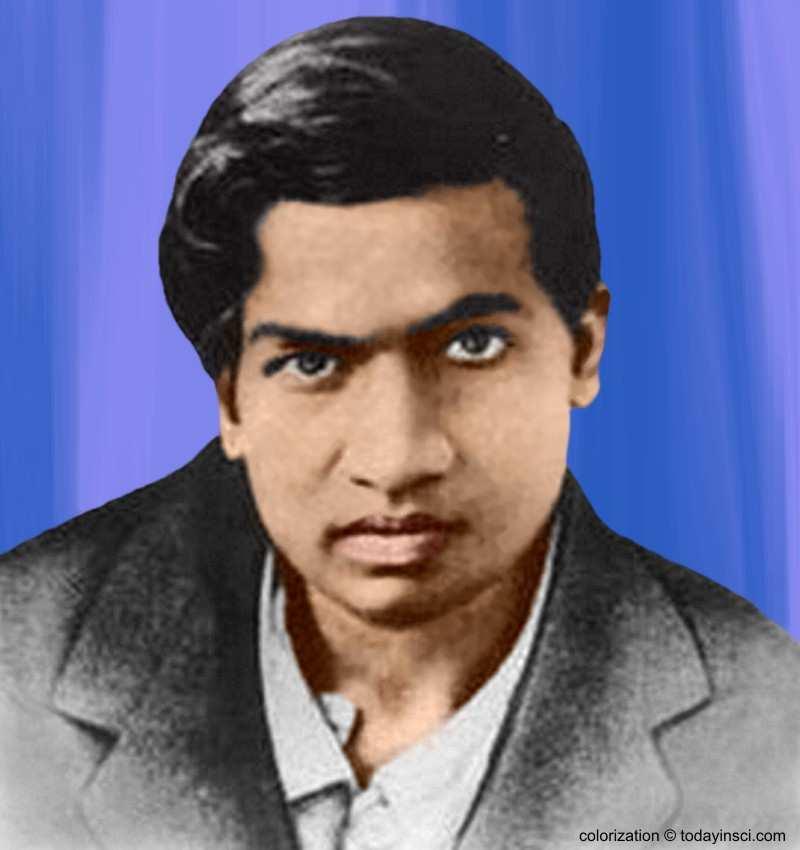 Srinivasa Ramanujan - colorization � todayinsci.com