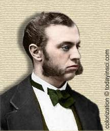 Photo of Ira Remsen - head and shoulders; colorization � todayinsci.com