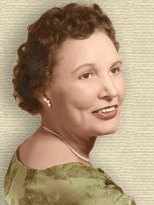Portrait of Mary Golda Ross, head and shoulders, facing right
