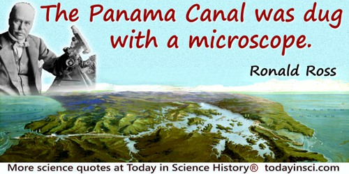 Ronald Ross quote: The Panama Canal was dug with a microscope