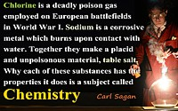 Carl Sagan quote A Subject Called Chemistry