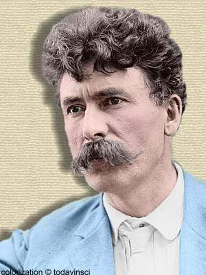 Photo of Ernest Seaton. Colorization © todayinsci.com