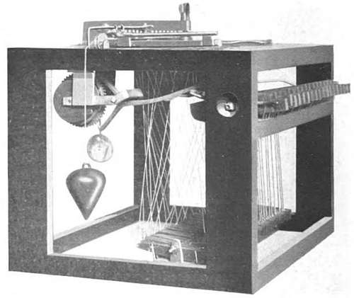 First Typewriter Patent Model - Side View