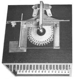First Typewriter Patent Model - Top View