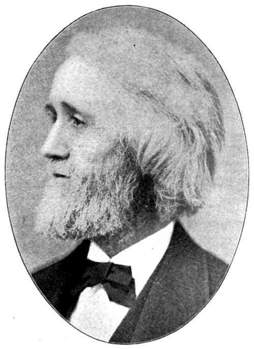 Photo of Christopher Latham Sholes in grayscale tone, head in profile, facing left in oval frame.