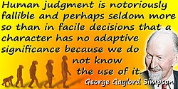 George Gaylord Simpson quote ��character has no adaptive significance�� - photo colorization � todayinsci.com