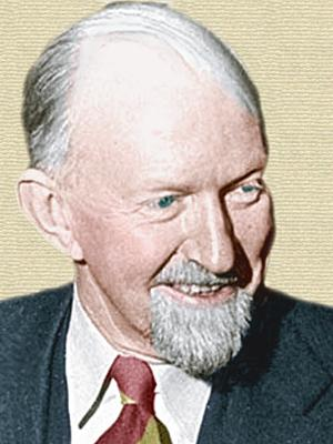 Photo of George Gaylord Simpson - profile - colorization © todayinsci