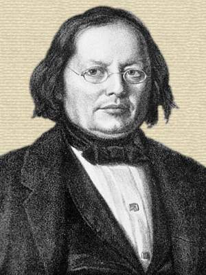 Engraving of Josef Skoda, head and shoulders