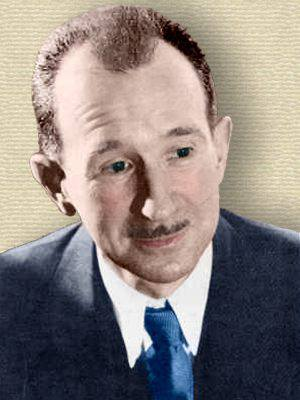 Photo of Harry Stack Sullivan - head and shoulders - colorization by todayinsci.com