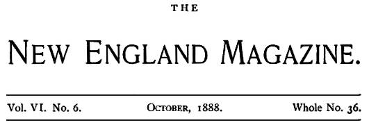New England Magazine logo Oct 1888