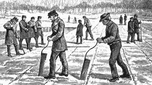 Ice Harvesting: Cutting, Calking and Breaking Off