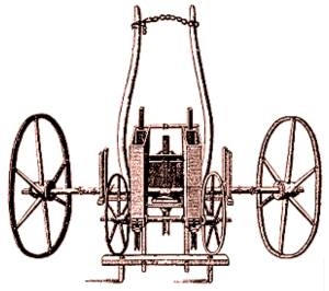 Jethro Tull's Seed Drill illustration from his book