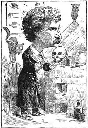 Mark Twain Caricature - Life magazine - 22 Mar 1883