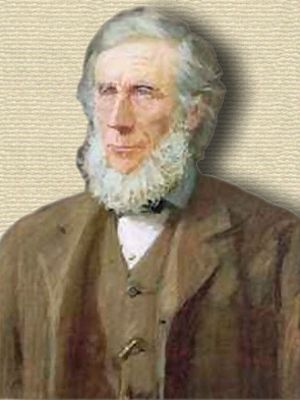 Pastel portrait of John Tyndall - upper body