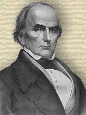 Engraving of Daniel Webster - head and shoulders