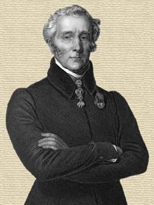 Engraving of Arthur Mellen Wellington - upper body