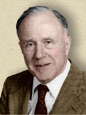 Photo of John A. Wheeler - head and shoulders - colorization © todayinsci.com