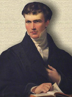 Portrait of young William Whewell, circa early 1800s - upper body
