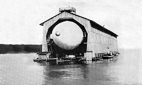 Fig. 1—Photo of Zeppelin's Airship in its Housing